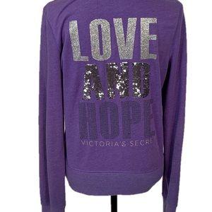 Victoria's Secret Love & Hope Hooded Zip-Up Jacket